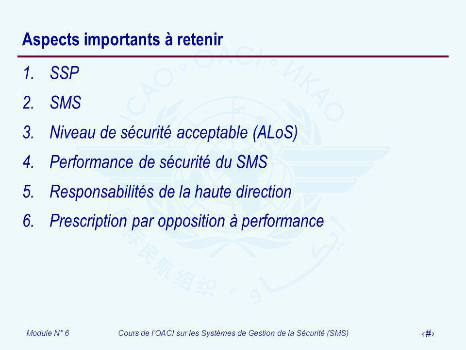 Aspects importants à retenir