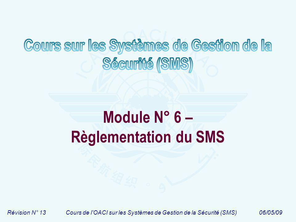 Module N° 6 – Règlementation du SMS