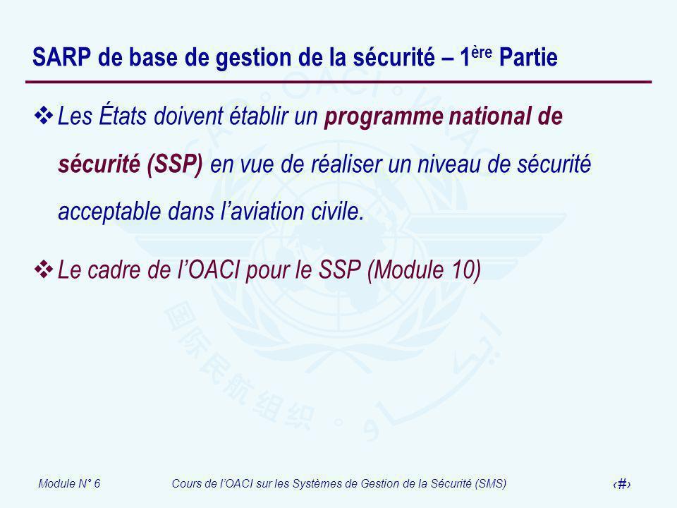 SARP de base de gestion de la sécurité – 1ère Partie