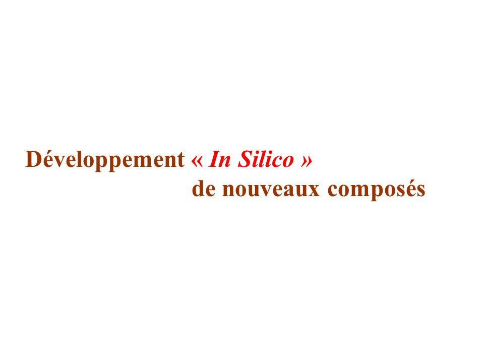 Développement « In Silico »