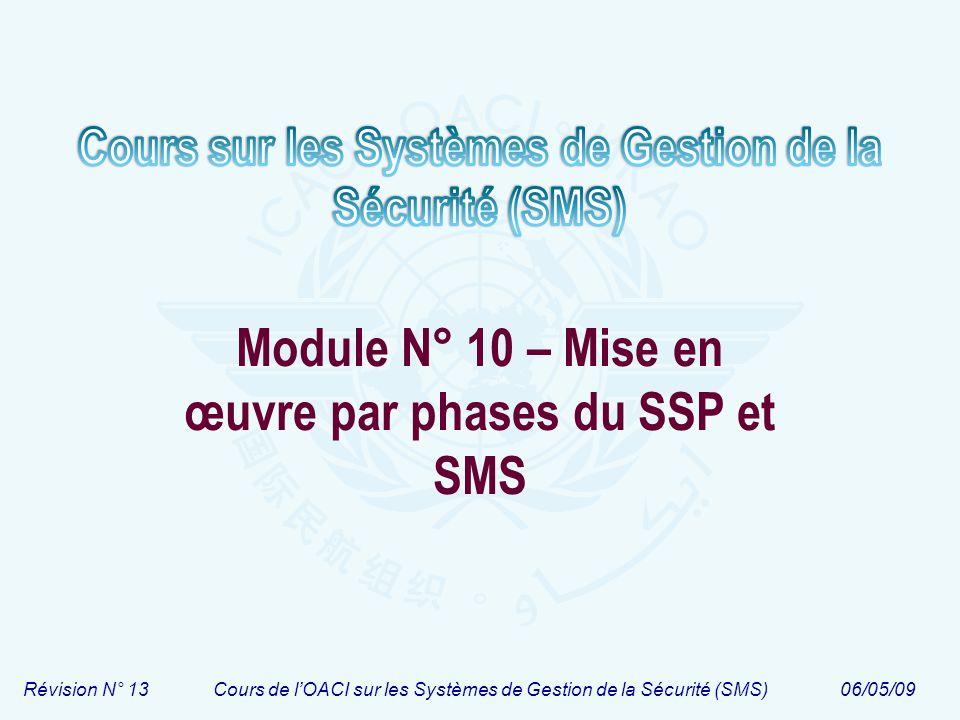 Module N° 10 – Mise en œuvre par phases du SSP et SMS