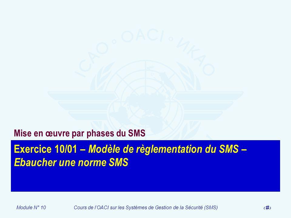 Mise en œuvre par phases du SMS
