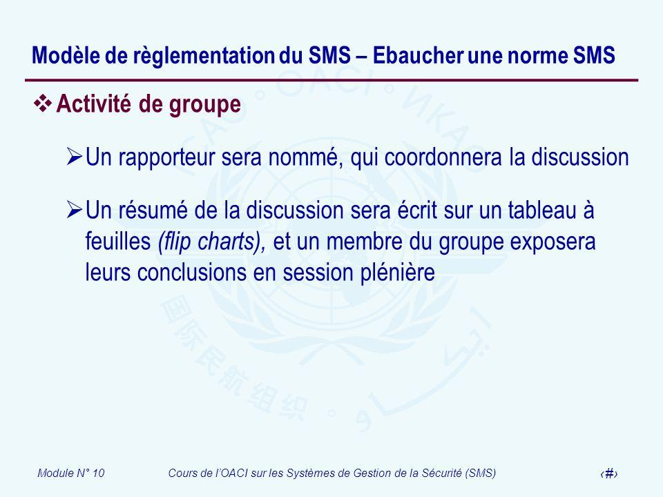 Modèle de règlementation du SMS – Ebaucher une norme SMS