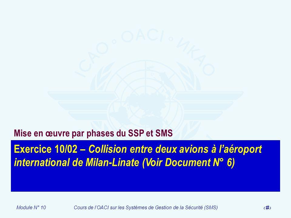 Mise en œuvre par phases du SSP et SMS