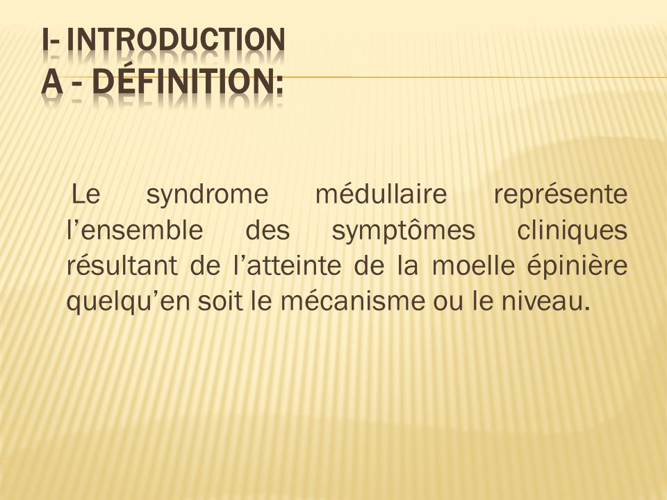 I- Introduction a - Définition: