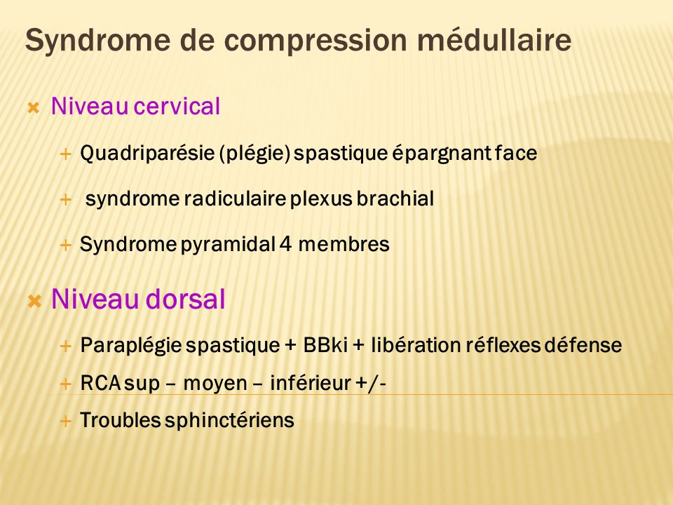 Syndrome de compression médullaire