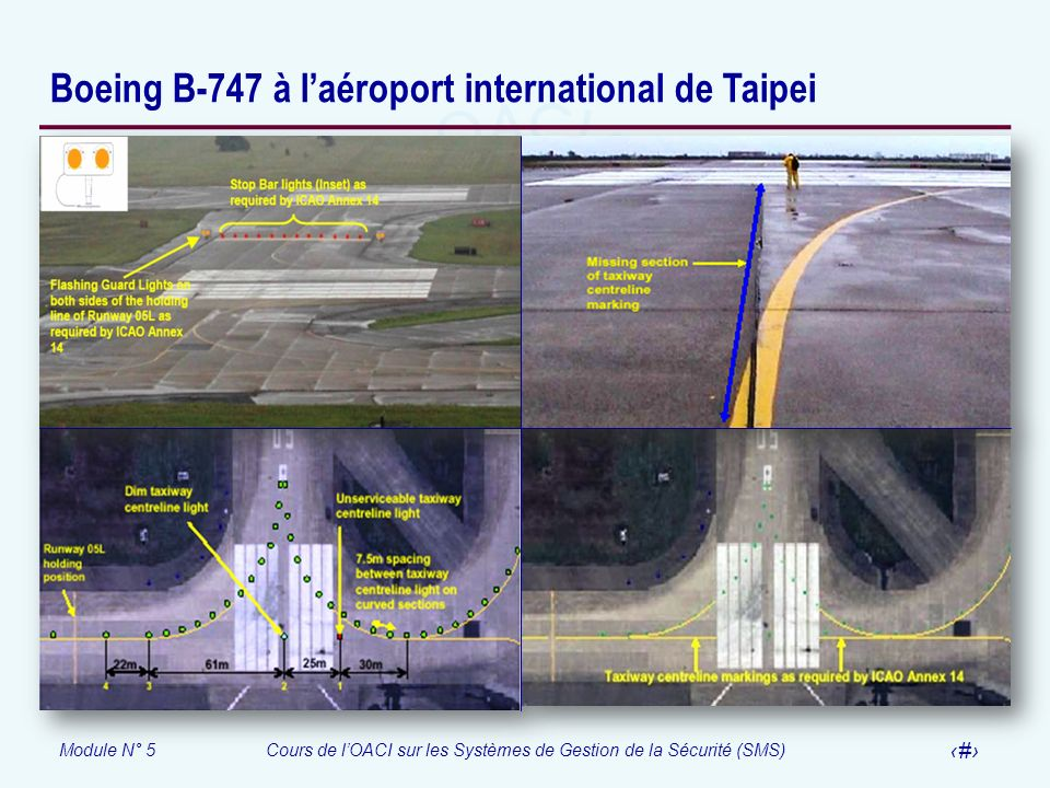 Boeing B-747 à l'aéroport international de Taipei
