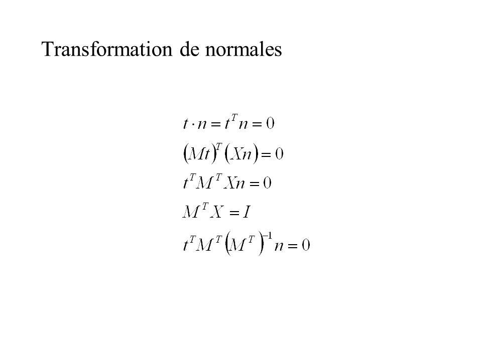 Transformation de normales