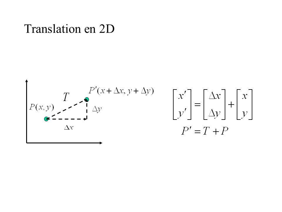 Translation en 2D