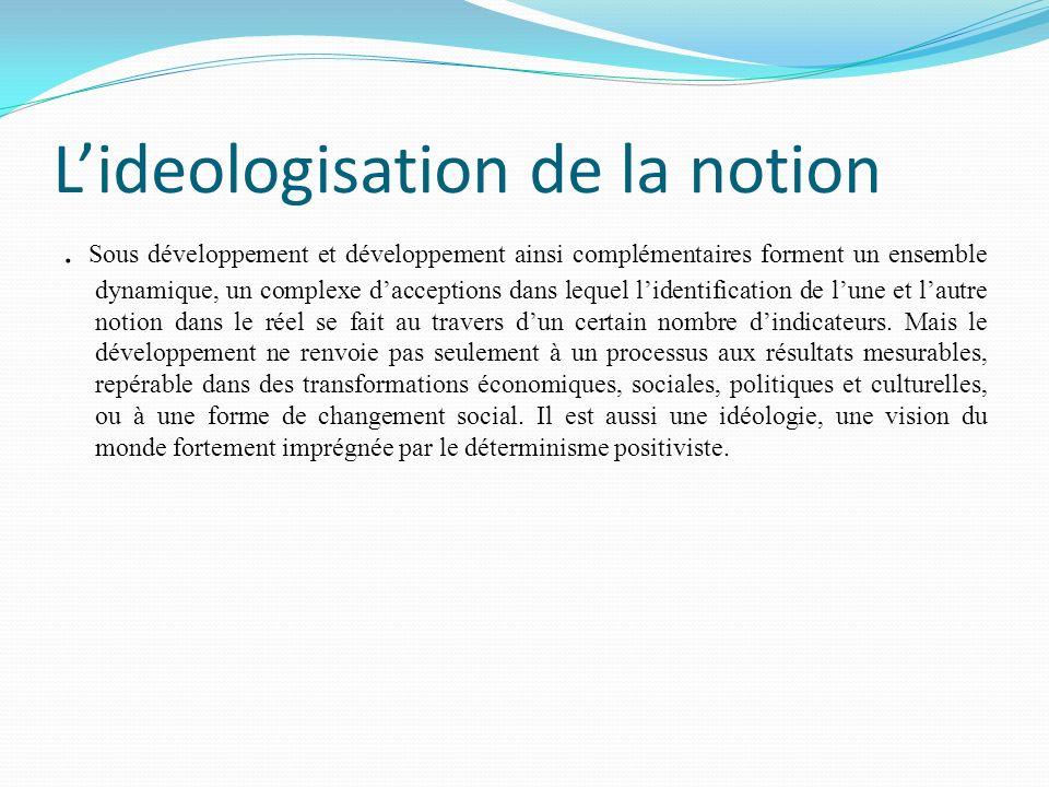 L'ideologisation de la notion