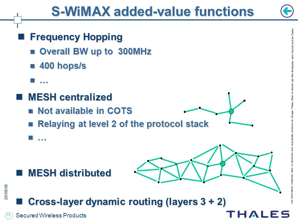 S-WiMAX added-value functions