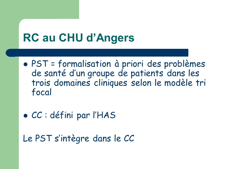 RC au CHU d'Angers