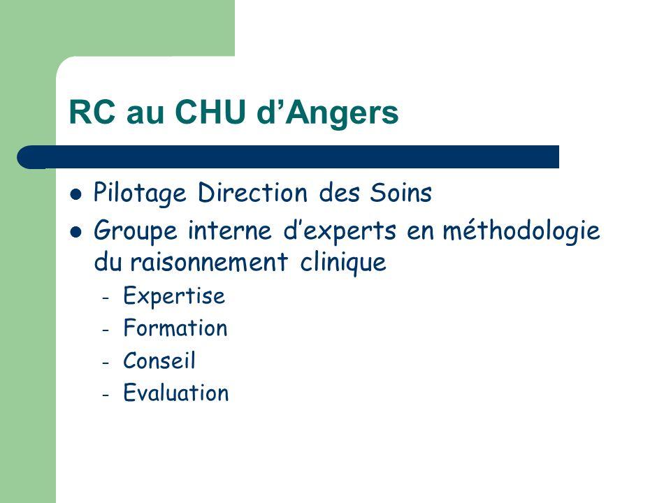 RC au CHU d'Angers Pilotage Direction des Soins