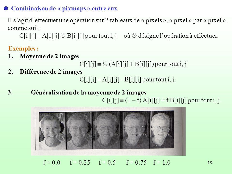 Combinaison de « pixmaps » entre eux