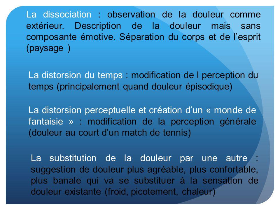 La dissociation : observation de la douleur comme extérieur