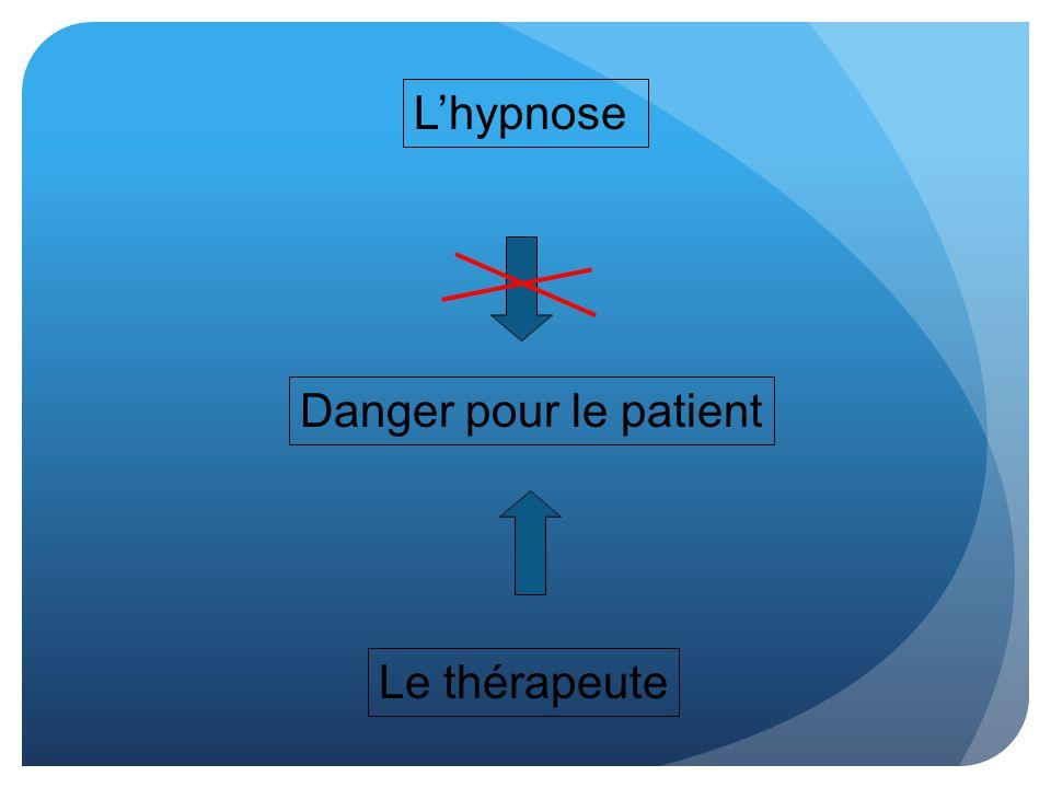 L'hypnose Danger pour le patient Le thérapeute