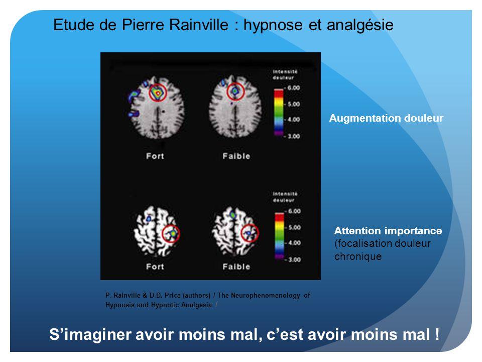 Etude de Pierre Rainville : hypnose et analgésie