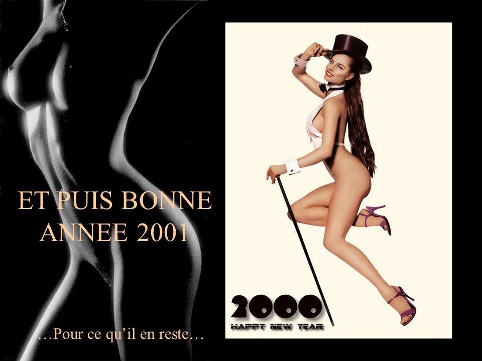 ET PUIS BONNE ANNEE 2001 …Pour ce qu'il en reste…
