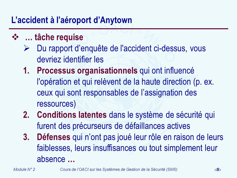 L'accident à l'aéroport d'Anytown