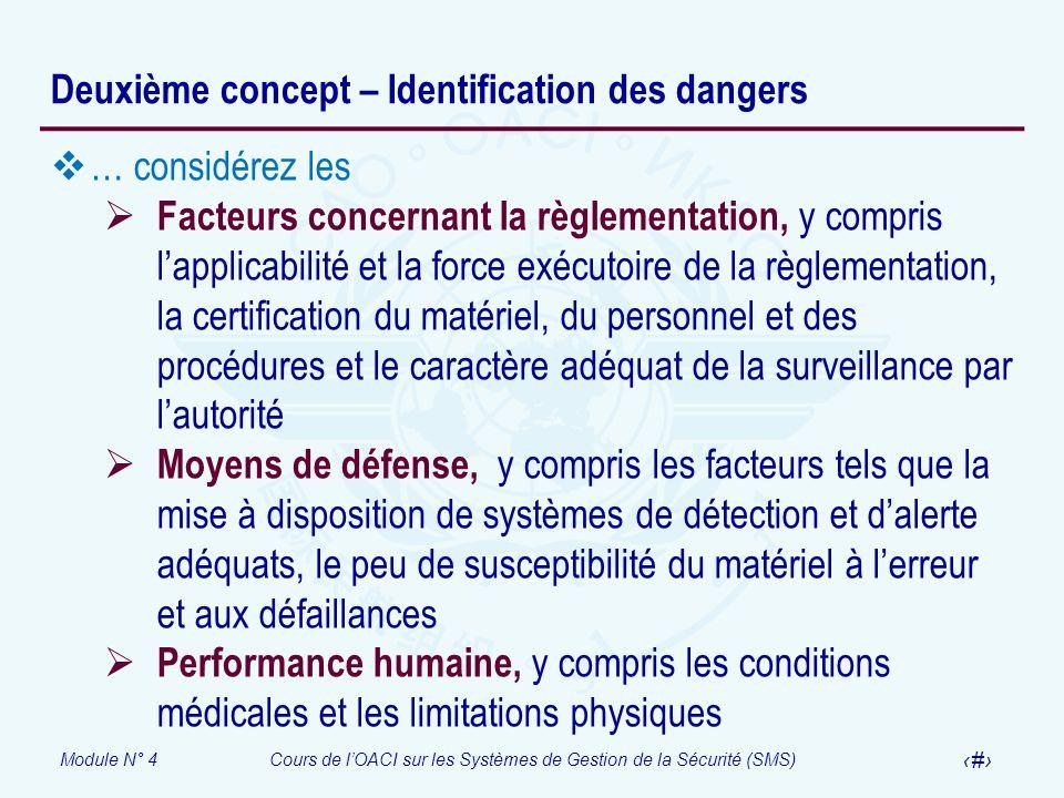 Deuxième concept – Identification des dangers