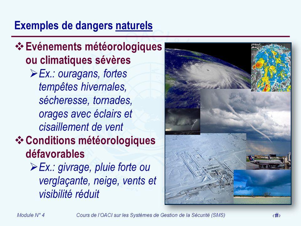 Exemples de dangers naturels