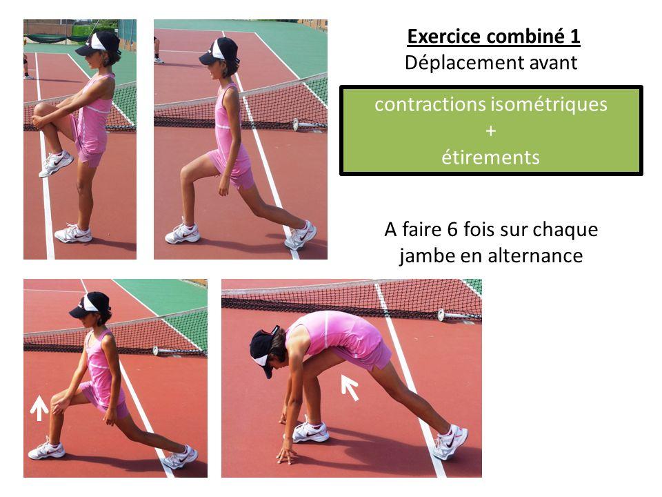 A faire 6 fois sur chaque jambe en alternance Exercice combiné 1