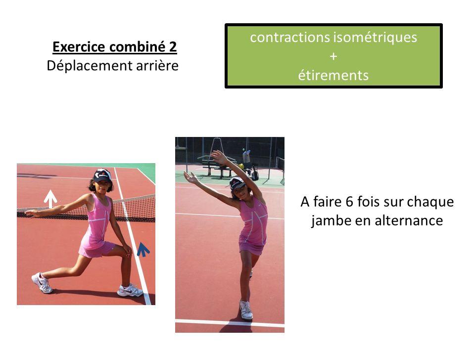 A faire 6 fois sur chaque jambe en alternance Exercice combiné 2