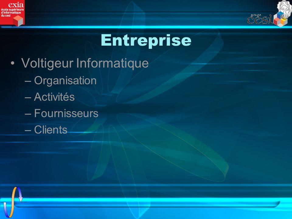 Entreprise Voltigeur Informatique Organisation Activités Fournisseurs