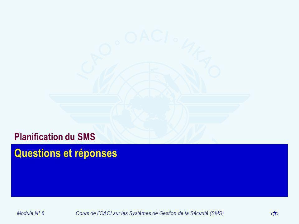 Planification du SMS Questions et réponses