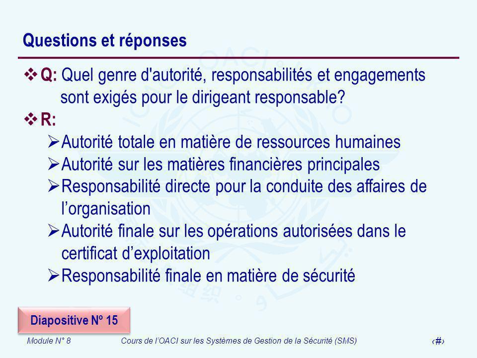 Autorité totale en matière de ressources humaines