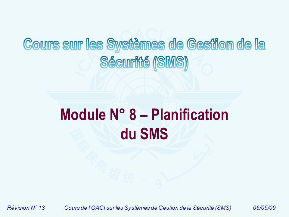 Module N° 8 – Planification du SMS