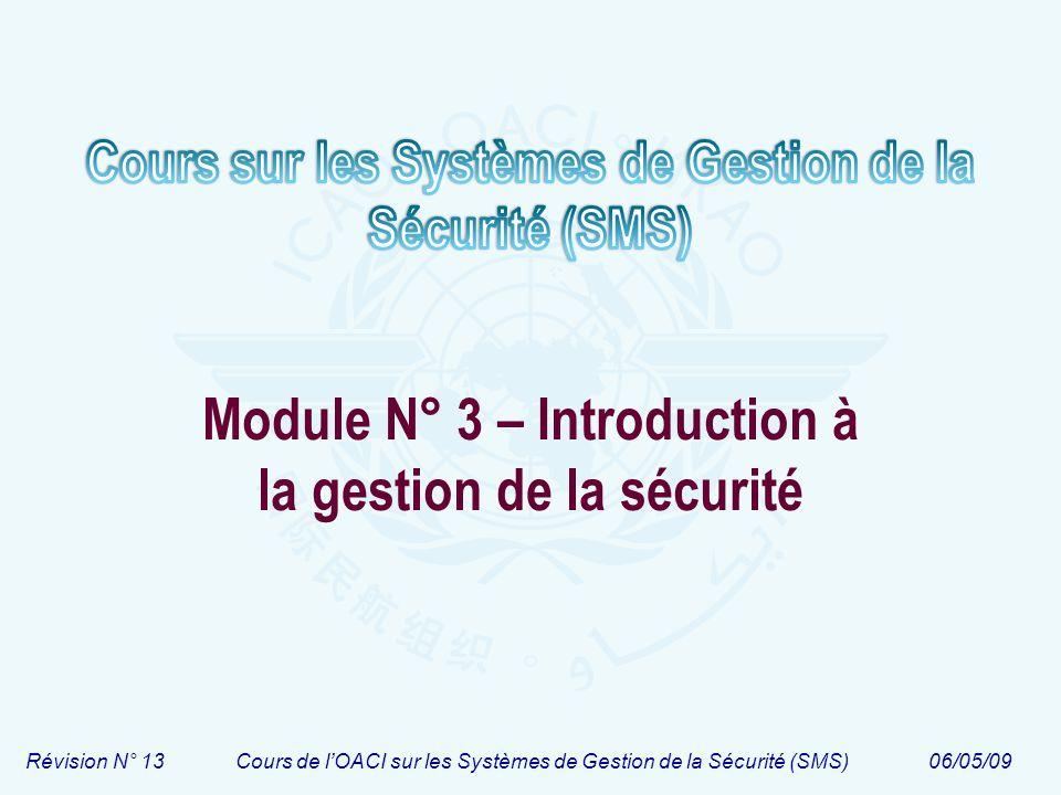 Module N° 3 – Introduction à la gestion de la sécurité