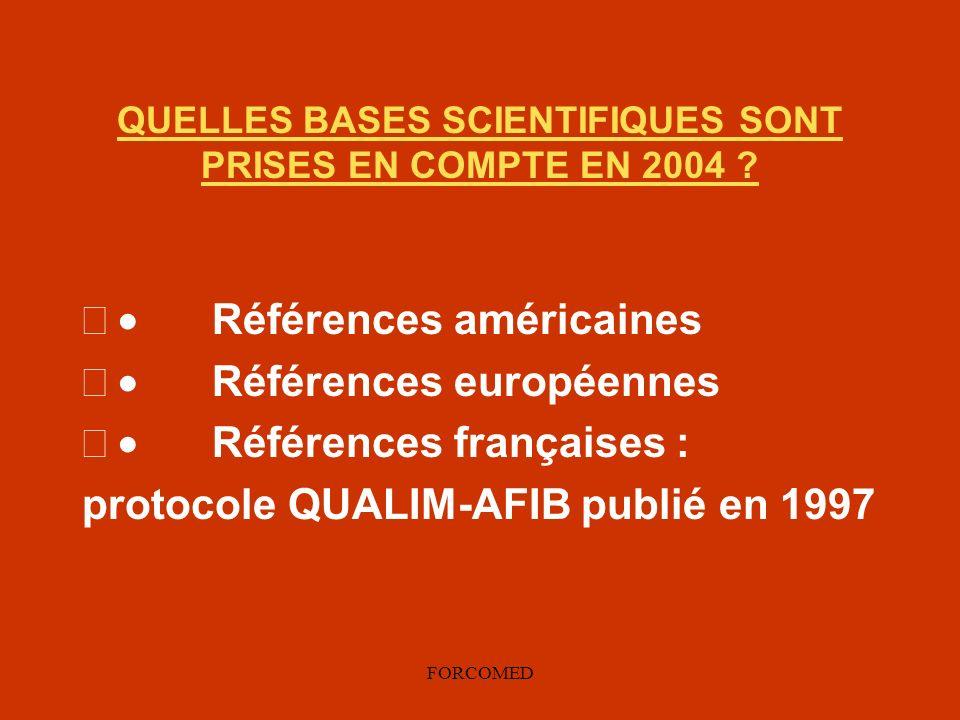 QUELLES BASES SCIENTIFIQUES SONT PRISES EN COMPTE EN 2004