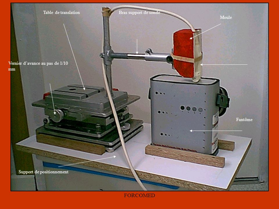 FORCOMED Moule Table de translation Bras support de sonde Fantôme