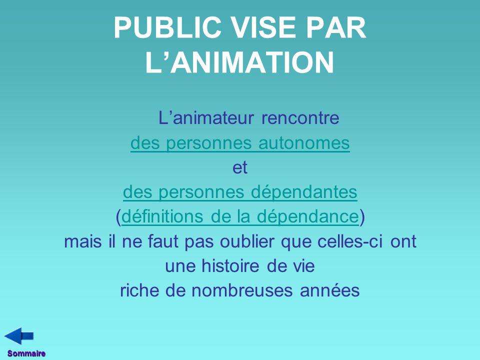PUBLIC VISE PAR L'ANIMATION