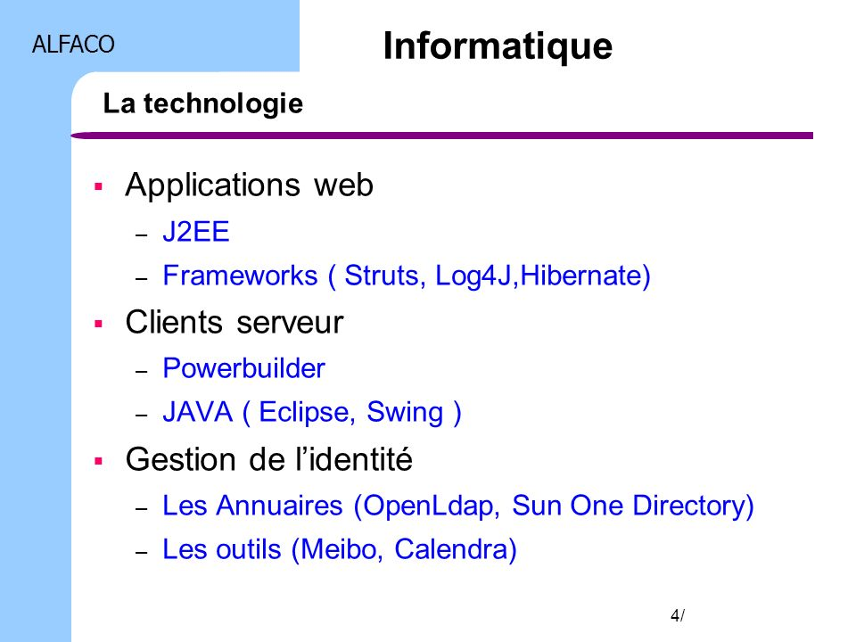 Informatique Applications web Clients serveur Gestion de l'identité