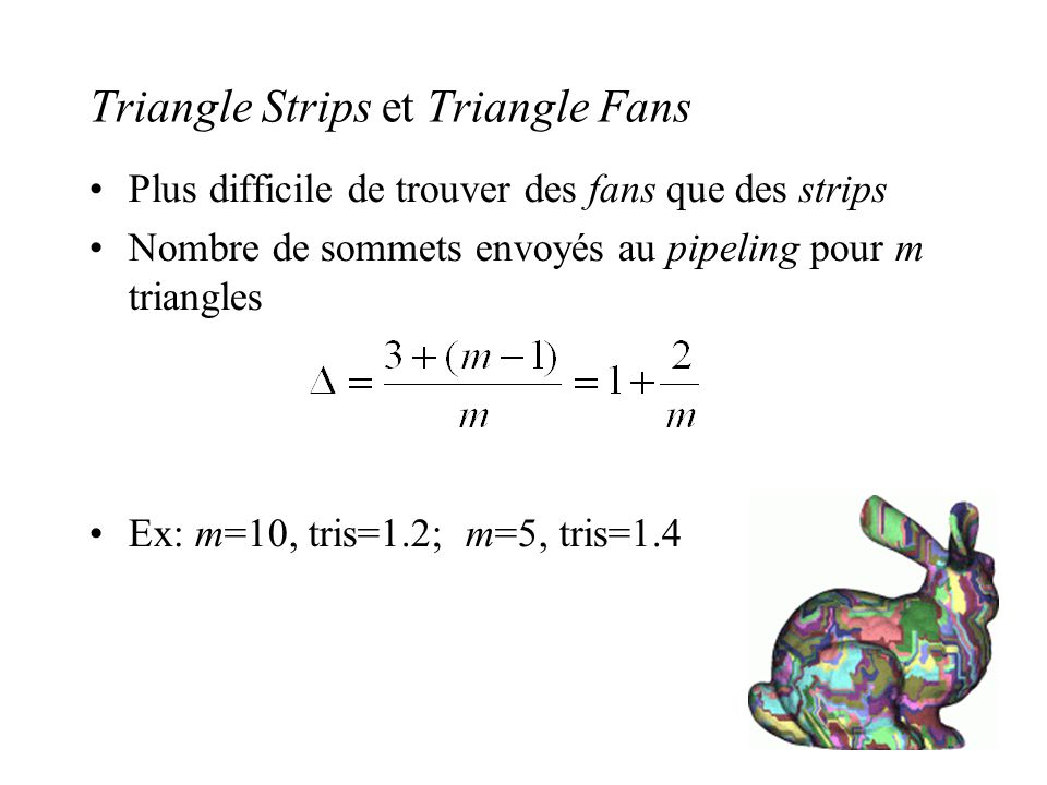 Triangle Strips et Triangle Fans