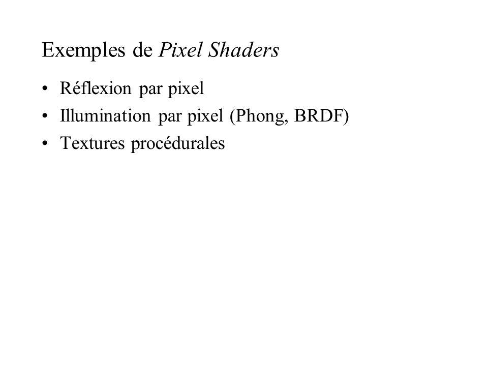 Exemples de Pixel Shaders