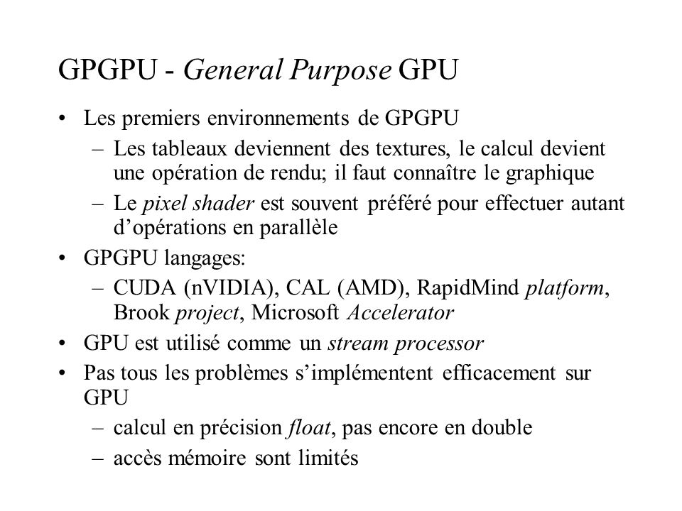 GPGPU - General Purpose GPU