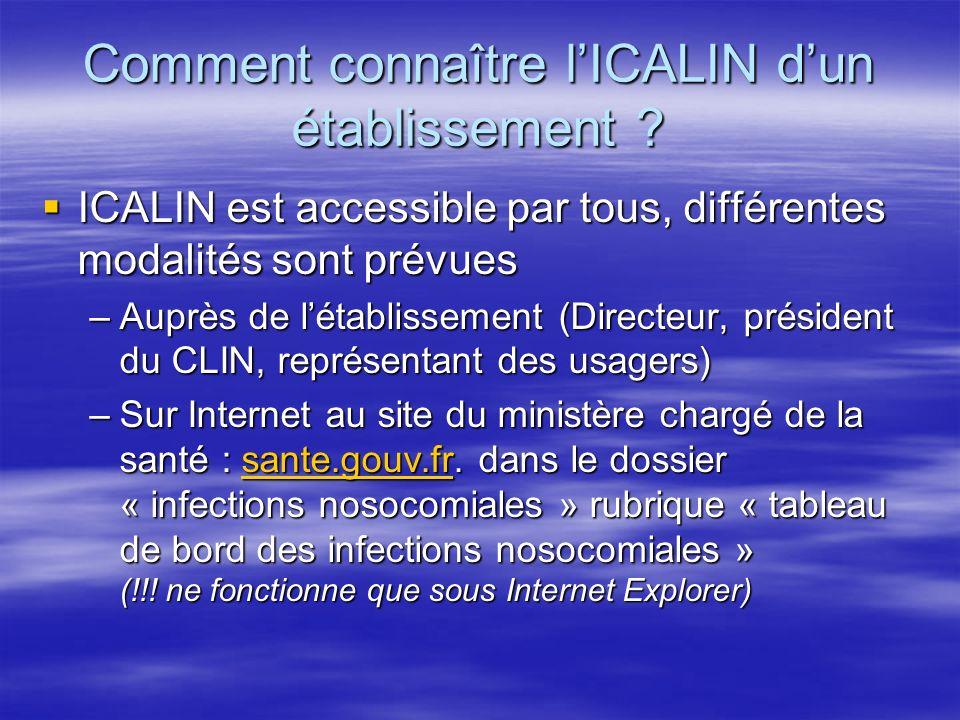 Comment connaître l'ICALIN d'un établissement