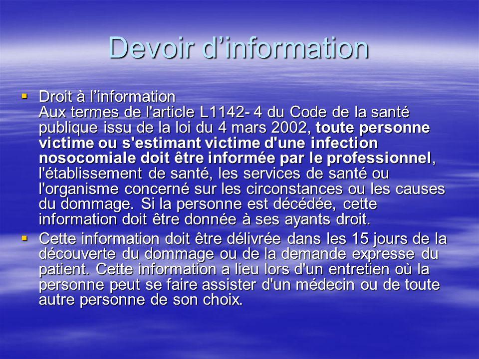 Devoir d'information