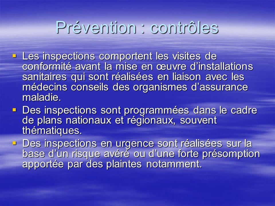 Prévention : contrôles