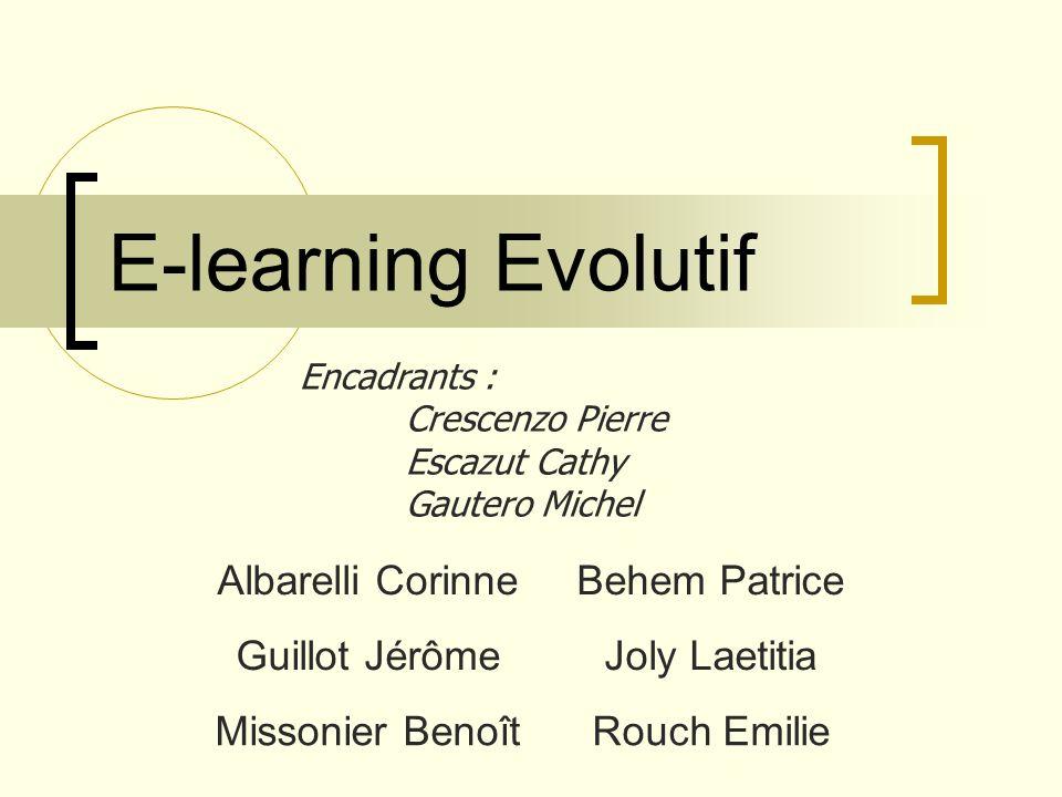 E-learning Evolutif Albarelli Corinne Behem Patrice Guillot Jérôme