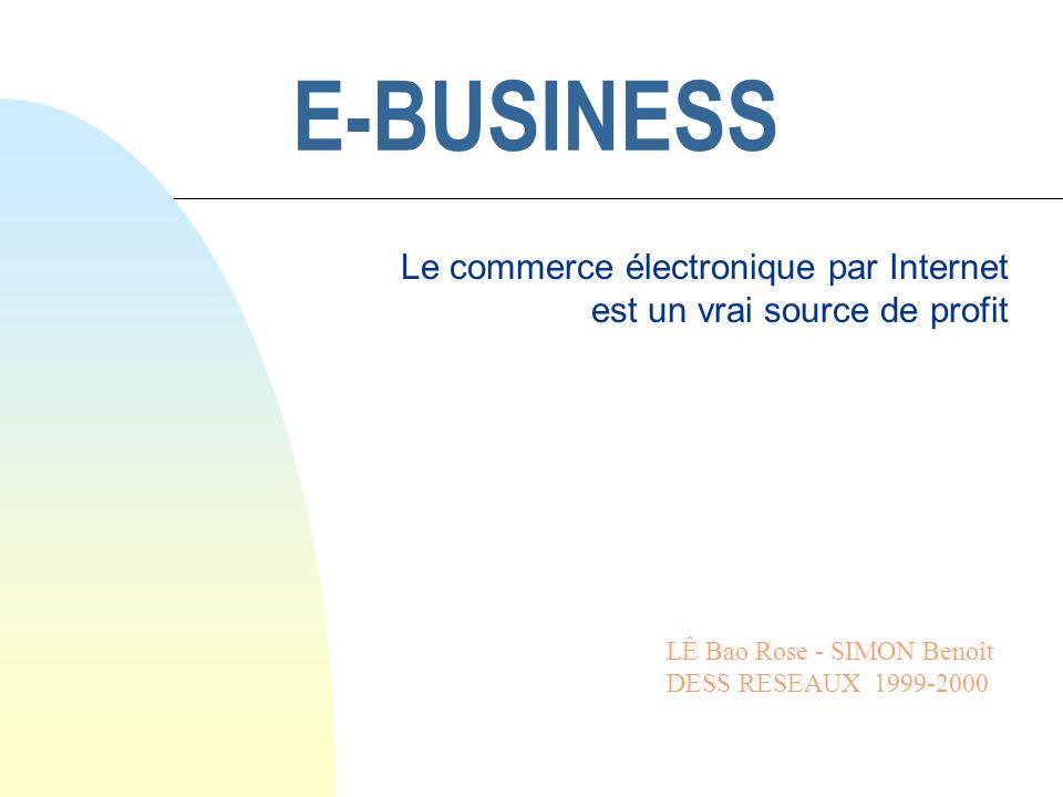 Le commerce électronique par Internet est un vrai source de profit