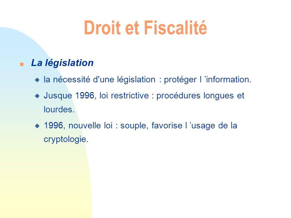 Droit et Fiscalité La législation