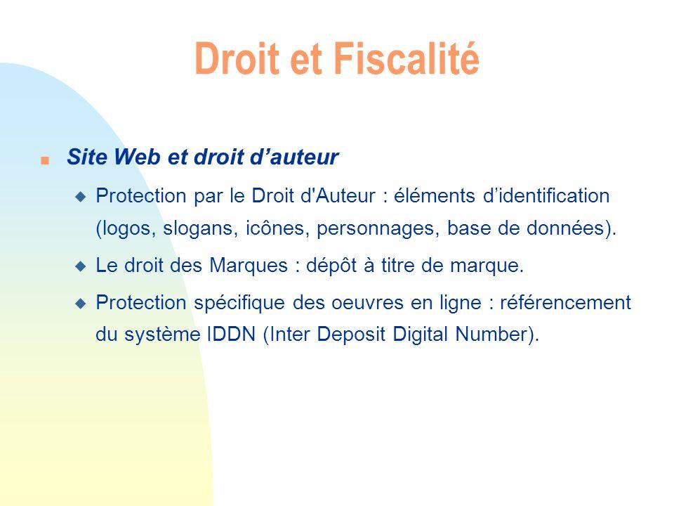 Droit et Fiscalité Site Web et droit d'auteur