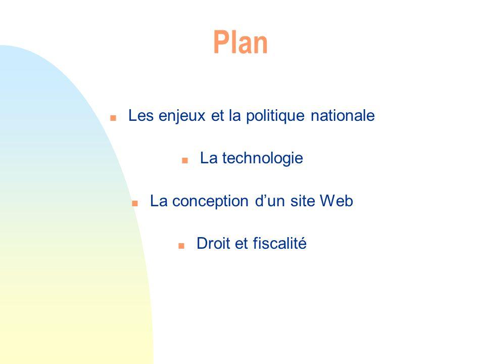 Plan Les enjeux et la politique nationale La technologie