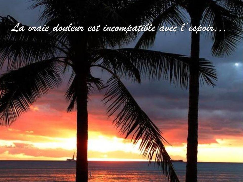 La vraie douleur est incompatible avec l'espoir…