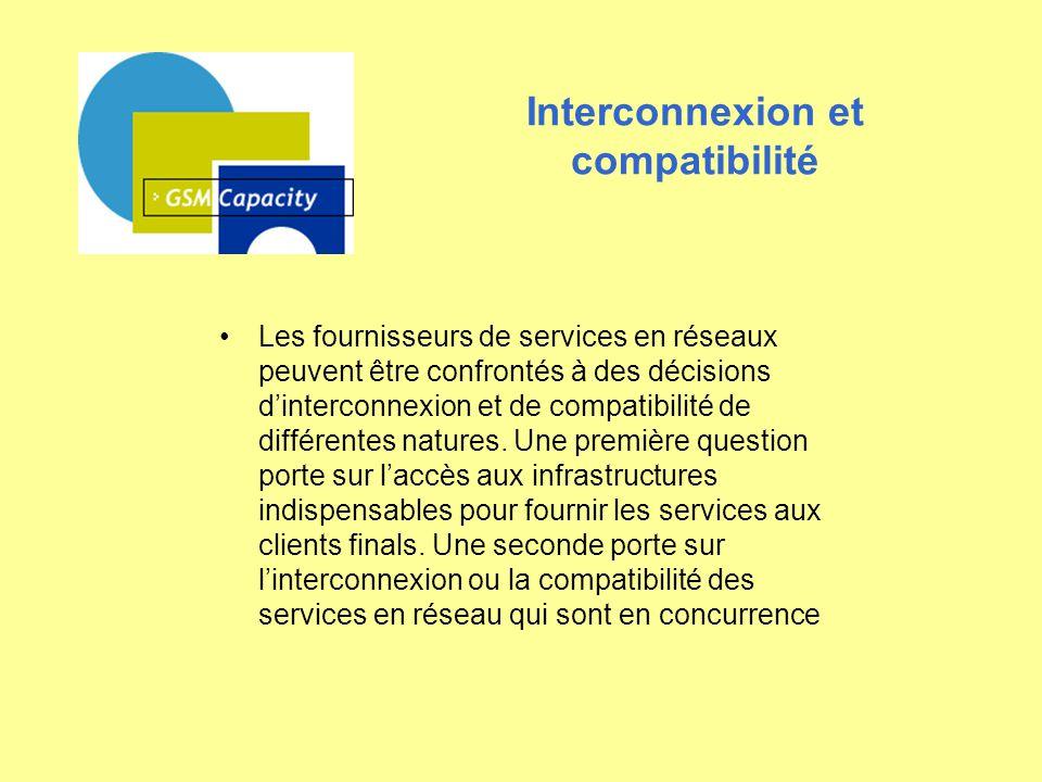 Interconnexion et compatibilité