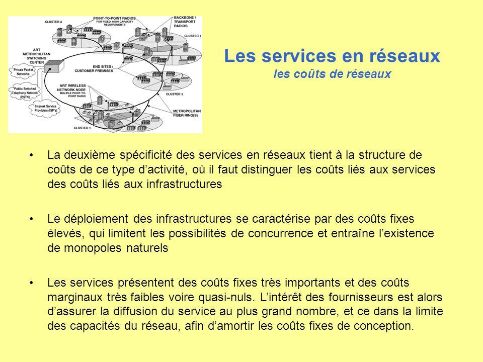 Les services en réseaux les coûts de réseaux